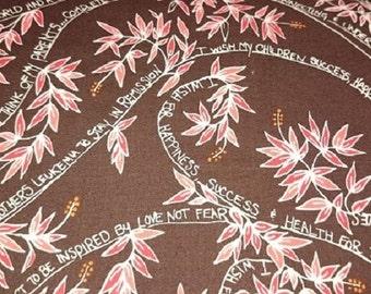 "FreeSpirit Cotton Fabric  ""Wishing Tree"" Strength   by Valori Wells"
