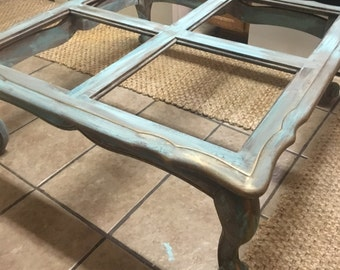 Refinished shabby chic coffee table