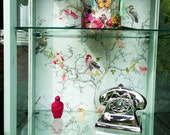 SOLD  Shabby Chic Antique Glass Display Cabinet
