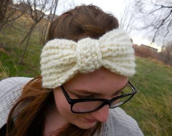 Warm & Cozy Crochet Bow Ear Warmer