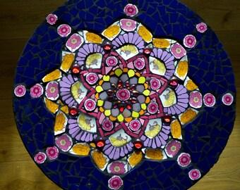 Table mosaic mandala