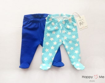 Baby boy pants with footies set/ Footed Leggings/ Footed Pajamas/ Home outfit set