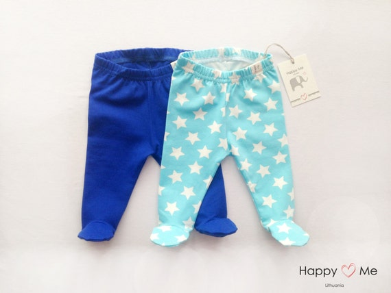 Items similar to Baby boy pants with footies set/ Footed Leggings/ Footed Pajamas/ Home outfit ...