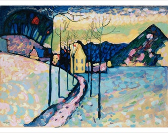 V. Kandinsky Winter Landscape Fine Art Poster 24x36 Abstract Expressionism