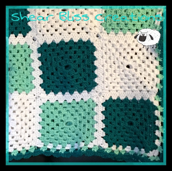 Items Similar To Baby Blanket Crochet Baby Blanket Teal