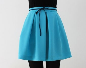 Exclusive high waist blue skirt