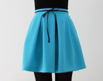 Exclusive high waist blue skirt