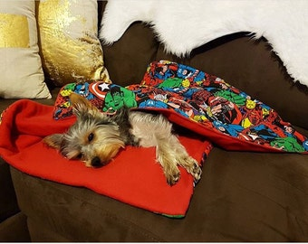 Superhero Dog/Cat blanket - Snuggle Sack