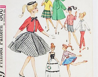 50s Doll Clothing Pattern | Simplicity 4700 Weekend Wardrobe Pattern | 50s Sewing Pattern