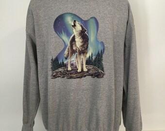 Vintage Wolf Crewneck XL