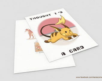 "Pokémon inspired ""Raichu"" Greetings card"