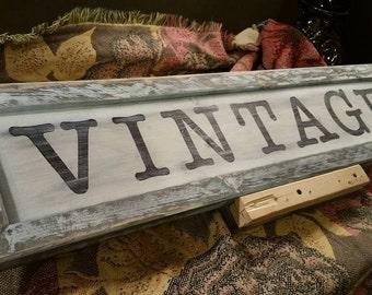 Wooden Vintage sign - Vintage sign - country - primitive - wood sign - handmade - Custom wooden sign - Home Decor'