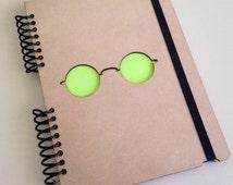 Wood Notebook, spiral notebook, cute diary, small sketchbook, memory book,best friend journal, sketch book, scrapbook, book, diary, imagine