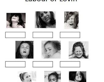 Baby Shower Game - Labor or Lovin'