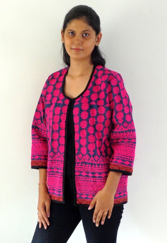 Indian tribal kutch embroidery jacket vintage by