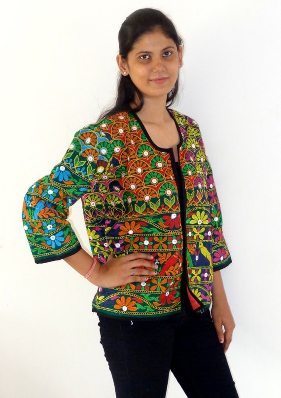 Indian handmade kutch embroidery jacket tribal by