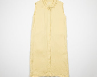 HERMES - Ocher linen dress