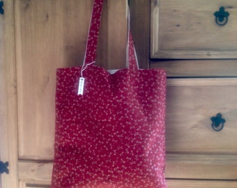 Handmade fabric tote bag