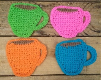 Set of 4 Coffee cup coasters
