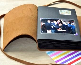Personalized  Photo Album black Scrapbook Album Wedding Guestbook  guest book Wedding gift book