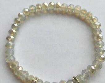 Bracelet Ella White Opal Gold