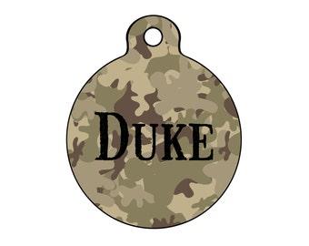 Camo Dog Tag for Dogs, Camo Pet ID Tag, Camouflage Dog Tag, Dog Tag for Hunters, Pet Id Tag for Hunting, Hunting Dog Tag, Military Pet Tag