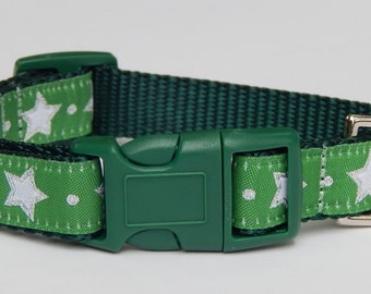 Star Dog Collar, Holiday Dog Collar, Christmas Dog Collar, Adjustable Dog Collar