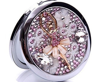 Crystal Dancer Double-sided Decoden Compact Mirror bridesmaid gift