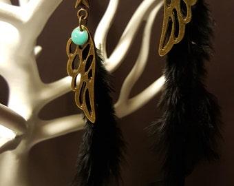 Earrings Feather & Wings
