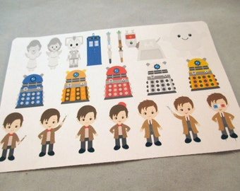 Dr. Who Character Stickers