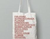 Tote bag, Firlefanz, Baumwolltasche, Typo, minimalistisch, Weihnachten, Weihnachtsgeschenk, Geschenke für Freunde, Grafik Design, Typografie