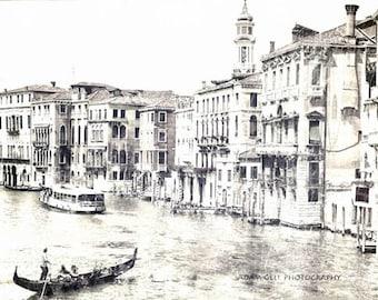 Venice Phototography,Venezia Italy Print,Venice Gondola Photo,Water Canal,Rustic Italy, Architectural, Romance,Europe,B&W, Venice Seascape