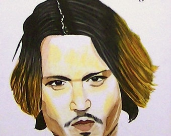 Johnny Depp autographed giclee