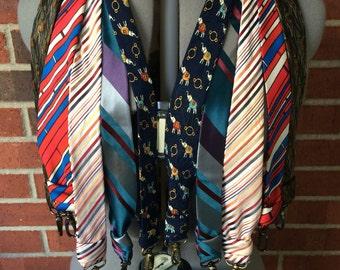 Upcycled necktie camera strap