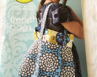 Amy Butler Sewing Pattern FRENCHY BAGS shoulder bag and handbag NEW