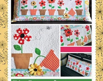 May Flowers Bench Pillow Pattern from Jaybird Quilts