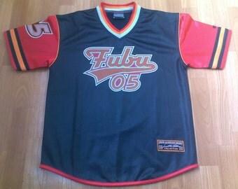 FUBU t-shirt, vintage hip-hop jersey of 90s rap clothing, 1990s hip hop, OG, gangsta rap, size S