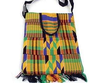 African Kente Laptop Messenger Bag
