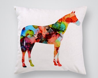 Horse Art Pillow Cover  - Throw Pillow - Decorative Pillow- Home Decor