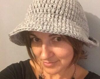 Crochet bucket beanie