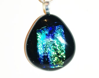 Black and Blues Dichroic Pendant