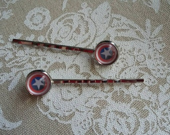 Captain America/Winter Soldier hair pins