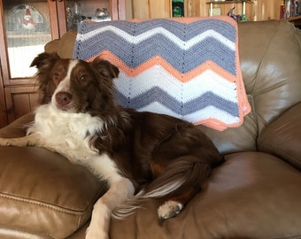 Chevron Meditation Blanket-Full Size