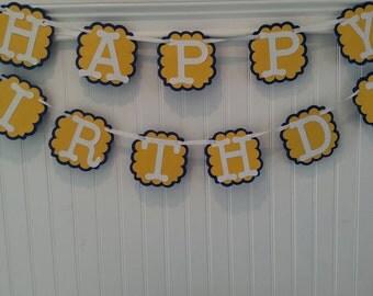 Birthday banner, photo prop, happy birthday sign, boy birthday banner, girl birthday banner,