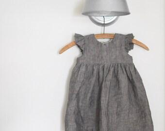 Flutter Sleeve Olive Dress
