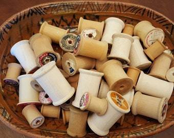 53 Wooden Thread Spools