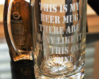 This is my beer mug, marine corps, beer glass, marine corps glass, Military beer mug, funny beer mug, etched beer glass