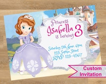 Sofia the first invitation, Sofia the first personalized, Sophia the first invitation, Sophia the princess invitations, Printable, Custom