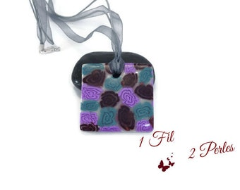 Necklace pendant square