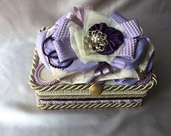 Lavender love keepsake jewel box